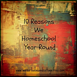 10 reasons homeschool year-round
