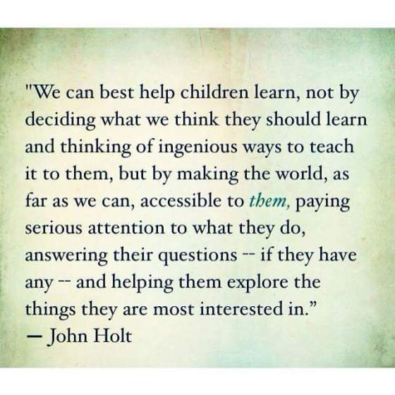 Friday's Food for Thought John Holt